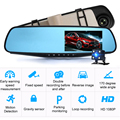 4.3in Dash Cam Hhd Full HD 1080P зеркальная камера Автомобильный видеорегистратор Камера Запись отслеживание движения автомобиля Регистраторы Автомоби...
