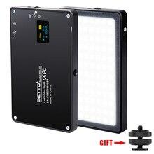 超薄型アルミ調光対応 OLED ディスプレイ 96 個 Led ビデオライトバッテリー CRI96 + 2 色デジタル一眼レフカメラ aputure として AL MX 岩田