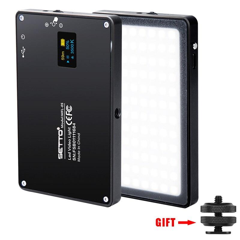 Ultra Fina De Alumínio Pode Ser Escurecido Display OLED 96 Pcs CRI96 + Bi-Color LED Luz de Vídeo com Bateria para DSLRs como Aputure AL-MX Iwata