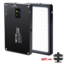 Ultra Ince Alüminyum Kısılabilir OLED Ekran 96 Adet LED Video Işığı ile Pil CRI96 + Iki Renkli DSLRs olarak Aputure AL MX Iwata