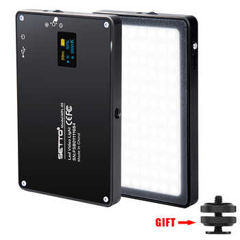 Ultra Thin Aluminum Dimmable OLED Display 96 Pcs LED Video Light with Battery CRI96+ Bi-Color for DSLRs as Aputure AL-MX Iwata - DISCOUNT ITEM  9 OFF Consumer Electronics