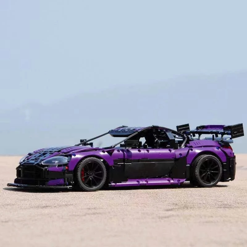 MOC High-Tech Series C001 Purple GT3 Supercar 3850+pcs Building Blocks Bricks Model Kids Educations Toys Birthday Gifts