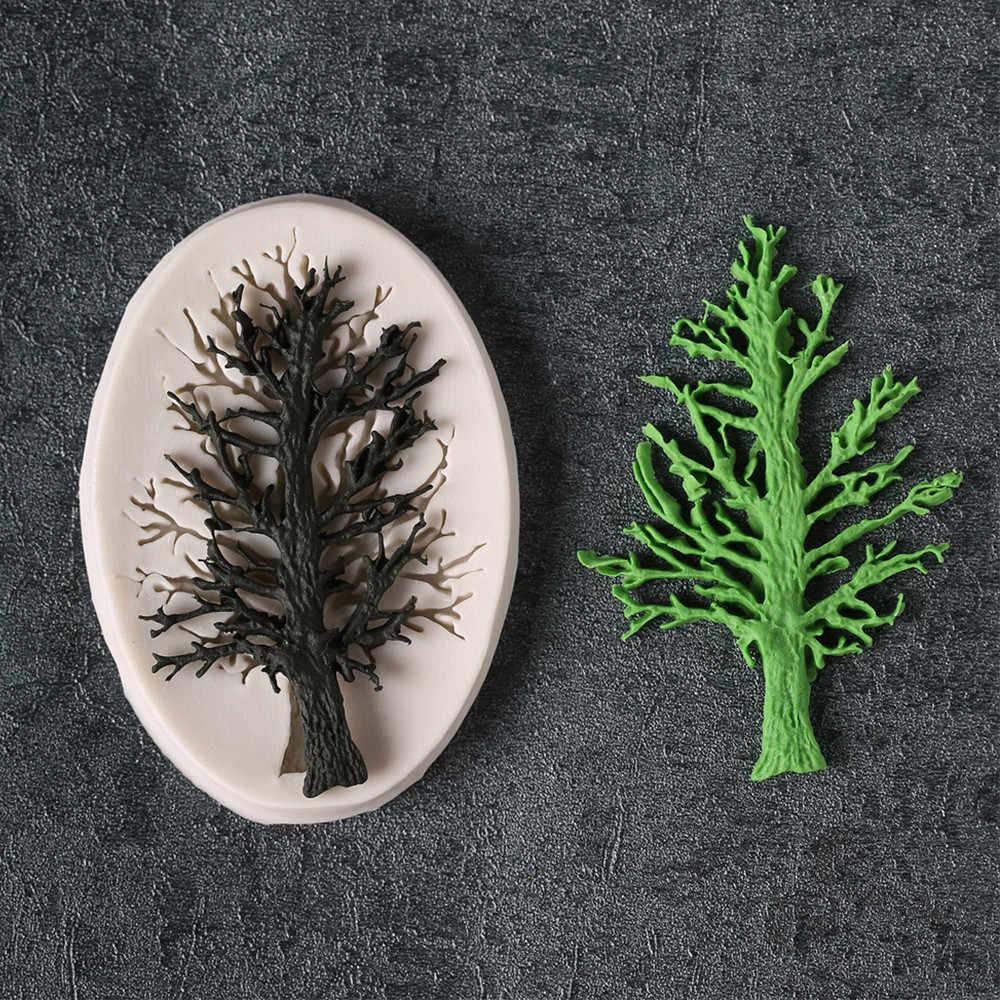 13D Pohon Cetakan Kue Cetakan Silikon Fondant Cetakan Kue Dekorasi Alat Chocolate Cetakan Pernikahan Dekorasi Cetakan Kue 919