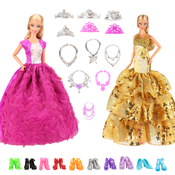 Accessories New 11.5-12'' Doll Clothes Long Tail Evening Party Wedding Party Lace Dress Gift Present For Barbie Outfit Costumes e ting 1 6 fashion doll clothes western style dress lace wedding evening party girls suit hat veil accessories for barbie doll