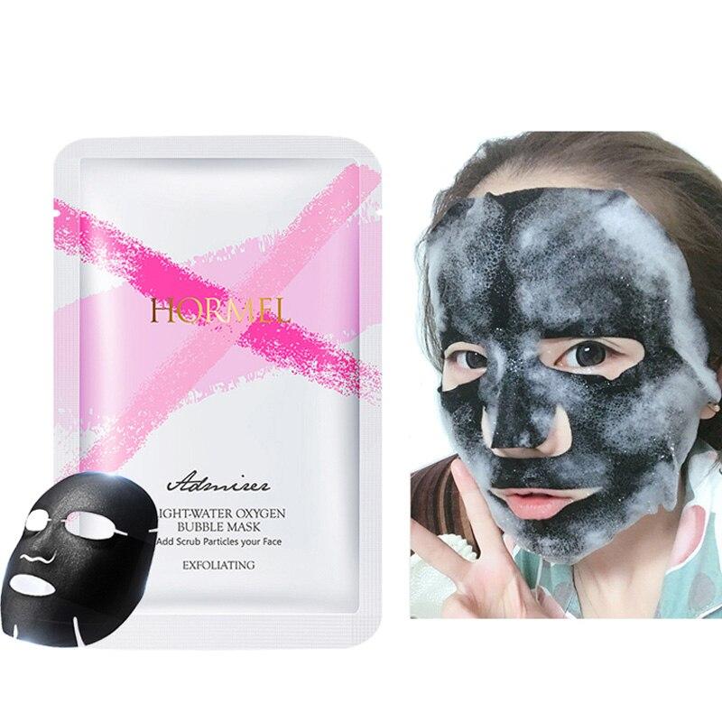 HEMEIEL Oxygen Bubble Mask Bamboo Charcoal And Glycerin Moisturizing Sheet Mask Anti-Aging Face Skin Care Korean Cosmetics