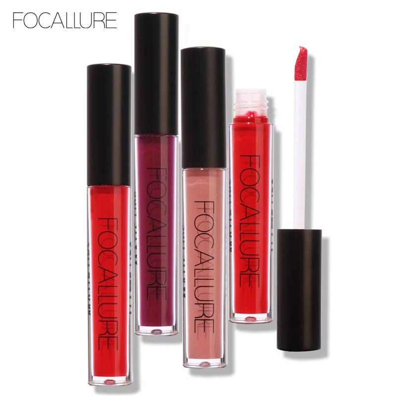 FOCALLURE Novo Fosco Gloss Sexy Líquido Lip Gloss Fosco Cosméticos Beleza Manter 24 Horas Lipgloss Maquiagem de Longa Duração À Prova D' Água