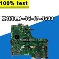 Для For Asus X450LD 4G I7 4500 с чипом системная материнская плата для ноутбука Материнская плата протестирована хорошо материнская плата S-4