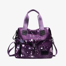 купить Luxury Nylon Shoulder Bag Star Print Messenger Women Bag Bolsa Feminina Travel Bag Lady Waterproof Crossbody Bag Zipper Handbag дешево