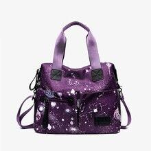 Luxury Nylon Shoulder Bag Star Print Messenger Women Bolsa Feminina Travel Lady Waterproof Crossbody Zipper Handbag