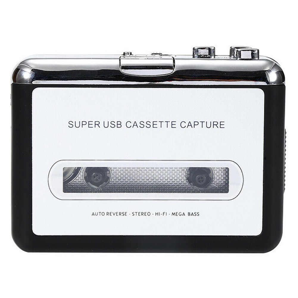 CASSETTE USB MP3 Converter จับแบบพกพา Tape-to-MP3 เครื่องเล่นเพลง Switcher DU55