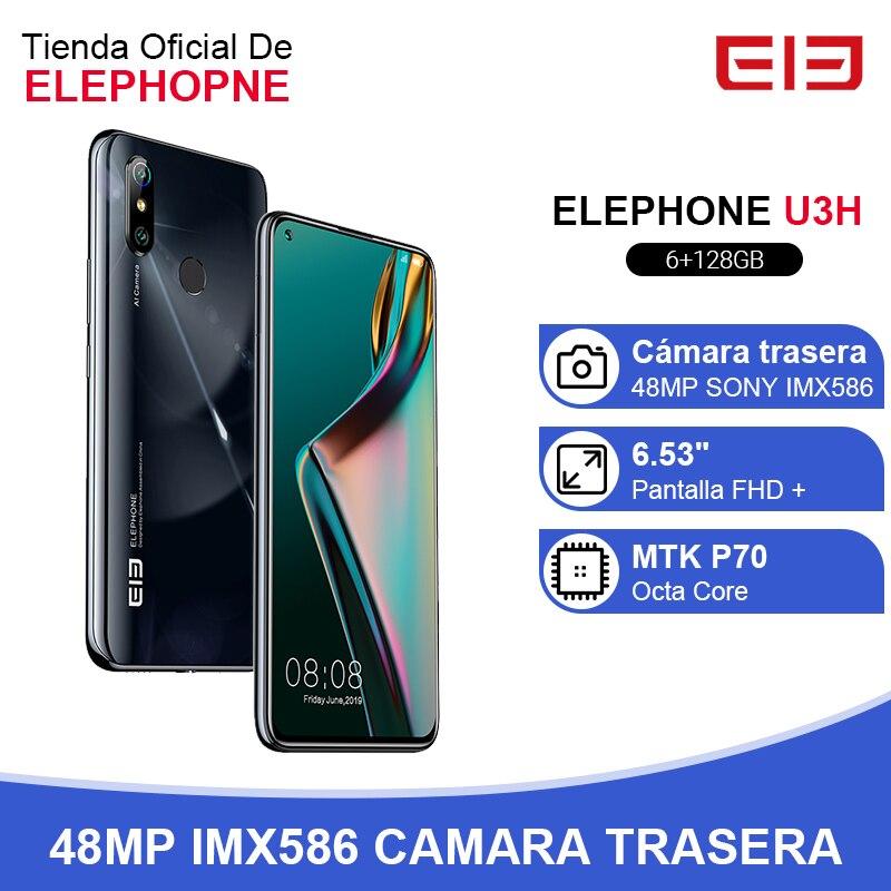 In Stock ELEPHONE U3H 6GB 128GB Helio P70 Smartphone 6.53
