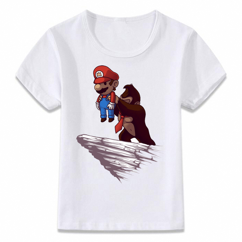 Kids Clothes T Shirt Mario Donkey Kong Pride Rock Funny Children T-shirt for Boys and Girls Toddler Shirts Tee image