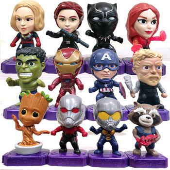 Marvel Avengers ruchoma lalka figurka dekoracja zabawka figurka prezent Thor Groot Iron Man Hulk szkarłatna czarownica czarna wdowa pantera tanie i dobre opinie Hasbro lalki 4-6y 7-12y 12 + y CN (pochodzenie) Unisex Model Temat gl876 Zachodnia animacja Produkty na stanie Wyroby gotowe