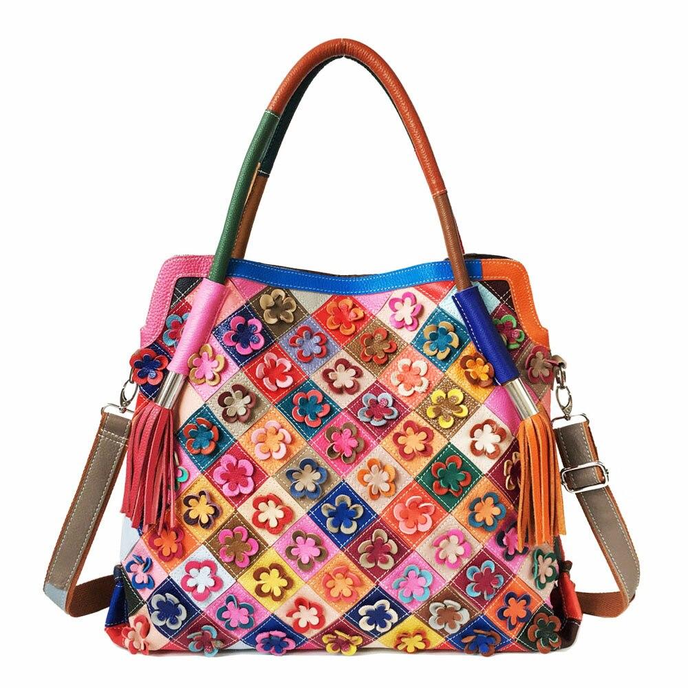 Genuine Leather Blossom Designer Bag