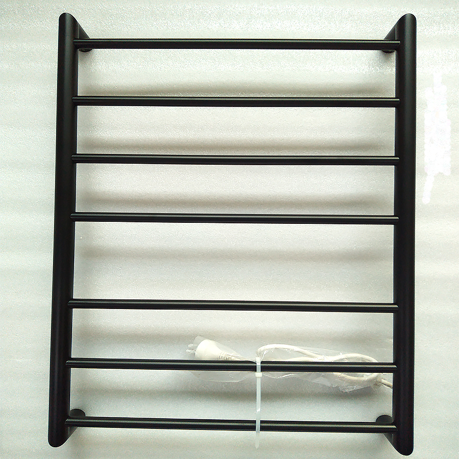 New Polish/Matt Blak Electric Bathroom Accessory Towel Warmer Heated Towel Holder Stainless Steel Rail HolderHZ-925 700*450