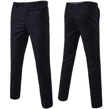 2020 Slim Fit Summer Thin Casual Business Men Formal Suit Pants Wedding Bridegroom Plus size Solid Color Asian Size Trousers