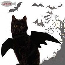 Halloween Dress Up Jewelry Pet Bat Wings Cool Puppy Cat Black Change
