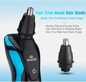 Image 5 - 전기 면도기 면도기 수염 코 트리머 트리머 면도기 남성용 Barbeador 충전식 세척 가능 습식 건식 방수