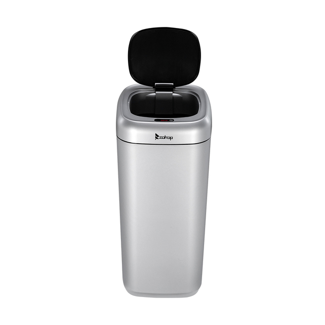 Zokop 35L Smart Motion Sensor Automatic Trash Can Waste Bin Silver Home intelligent Electric garbage for