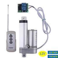 RF remote control Electric Linear actuator 12V metal gear can stop any time linear motor stroke 800mm 900mm for medical auto car