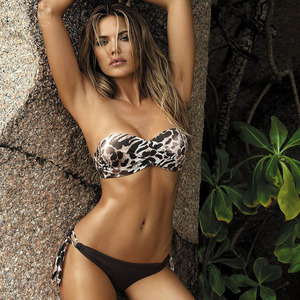 Image 4 - 2020 New Leaves Print Bikini Swimsuit Women Push Up Bikini Set Bandeau Swimwear Bathing Suit Brazilian Biquini Female