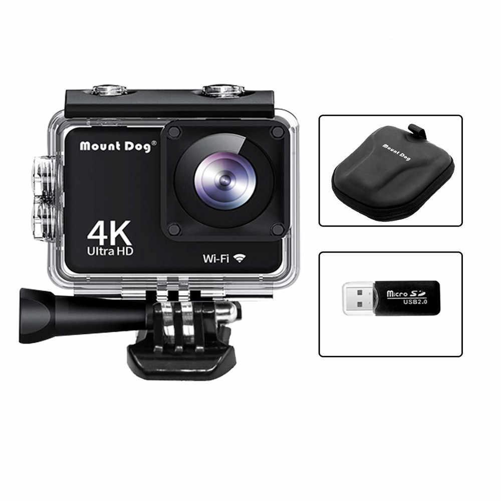 """Mount tdog 2,0 """"HD 4K impermeable deportes Video acción Cámara 30fps 170 grados bajo el agua Go Sport Cam Video registro WiFi Pro cámaras"""