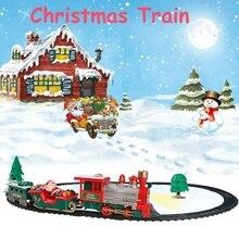 Детский трек маленький поезд игрушка электрический Рождественский поезд моделирование Классическая мощность RC трек поезд набор праздничный подарок