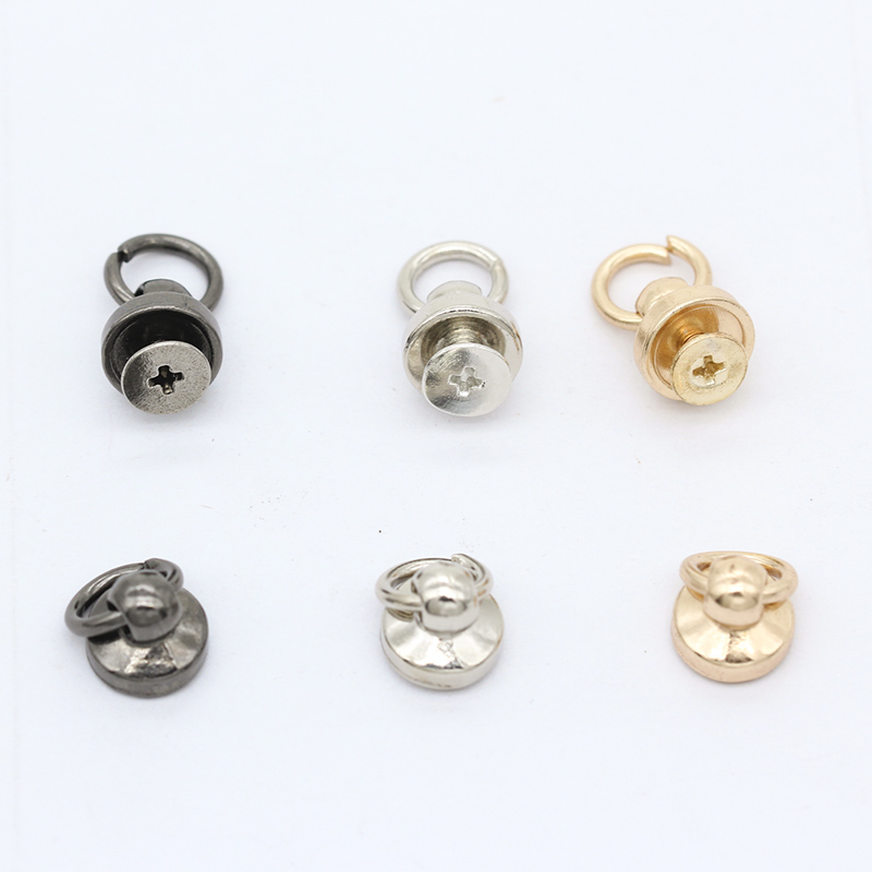 20p O Ring Round Head Stud Screwback Leather Craft Bag Chicago Screw Nail Rivet