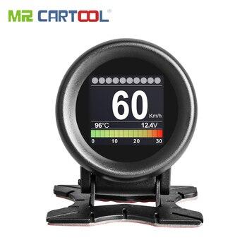 MR CARTOOL M3 Car OBD2 HUD Head-Up Display GPS Speedometer Overspeed Warning Oil Water Temp Gauge Digital OBD2 Diagnostic Tool 1