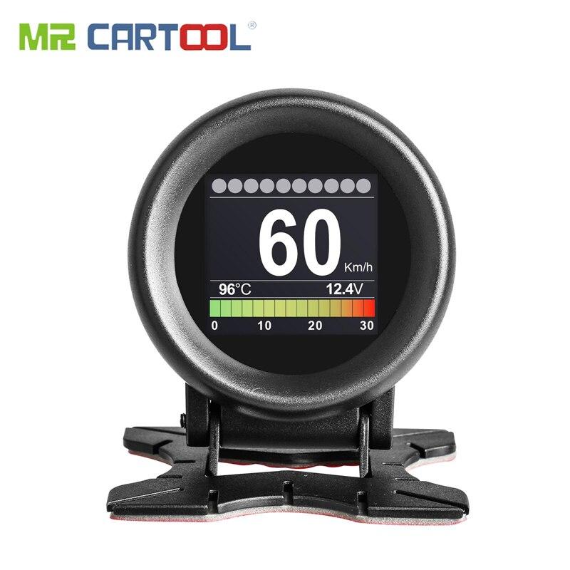 MR CARTOOL M3 Car OBD2 HUD pantalla Head-Up velocímetro GPS advertencia de exceso de velocidad aceite Indicador de temperatura de agua Digital OBD2 herramienta de diagnóstico