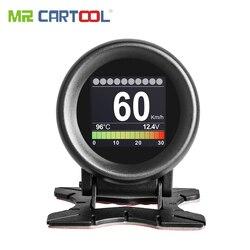 MR CARTOOL M3 samochód OBD2 HUD wyświetlacz Head Up prędkościomierz gps ostrzeżenie o przekroczeniu prędkości wskaźnik temperatury wody oleju cyfrowe narzędzie diagnostyczne OBD2 w Wyświetlacz projekcyjny od Samochody i motocykle na