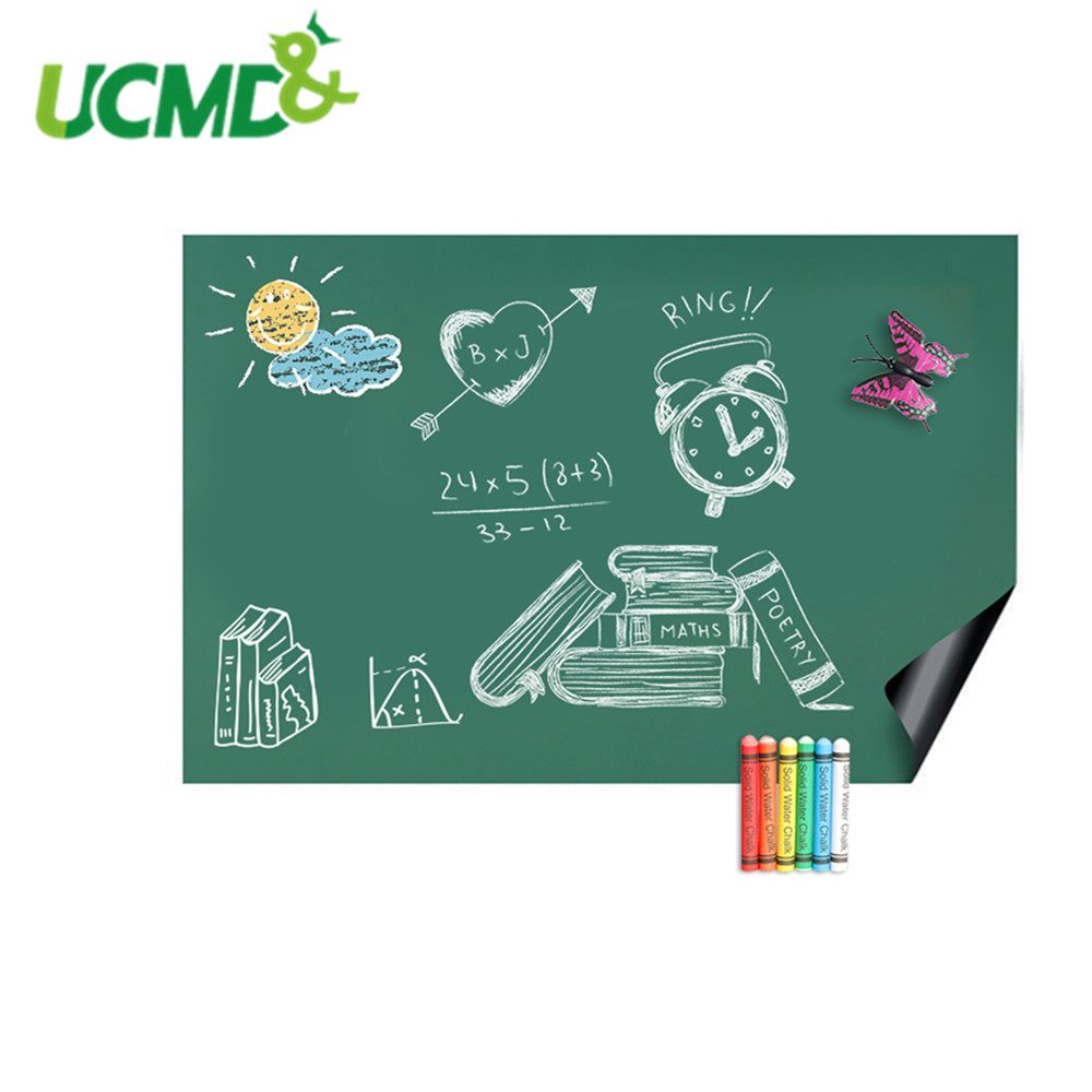 100x50cm Kids Drawing Wall Sticker Home School Erasable Painting Writing Learning Notice Chalkboard Hold Magnets Room Decoration