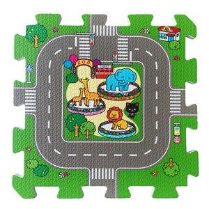 Image 5 - תינוק EVA קצף פאזל לשחק רצפת מחצלת עיר כביש חינוך שטיחים אריחי שלובים ילדים ציר תנועה קרקע כרית (לא קצה) NEEU