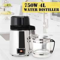 4L 750W Water Distiller Household Distilled Pure Water Machine Distillation Purifier Filter Stainless Steel Water Filter AU Plug
