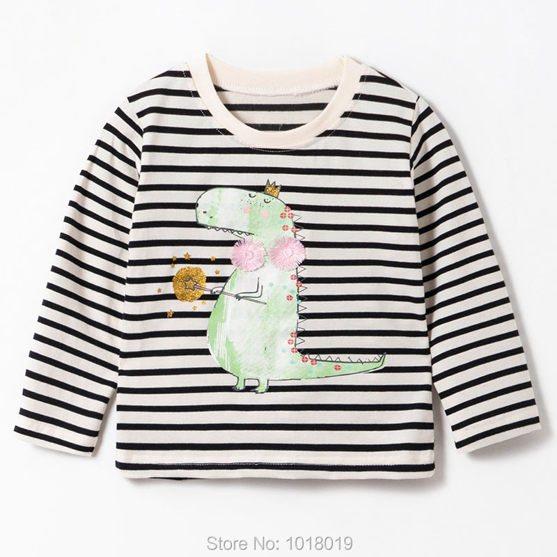 Brand 100% Cotton Baby Girls t shirts 1-7Y Kids Clothing Clothes Children Long Sleeve t-shirt Girls Blouses Undershirt Tops 2020 6