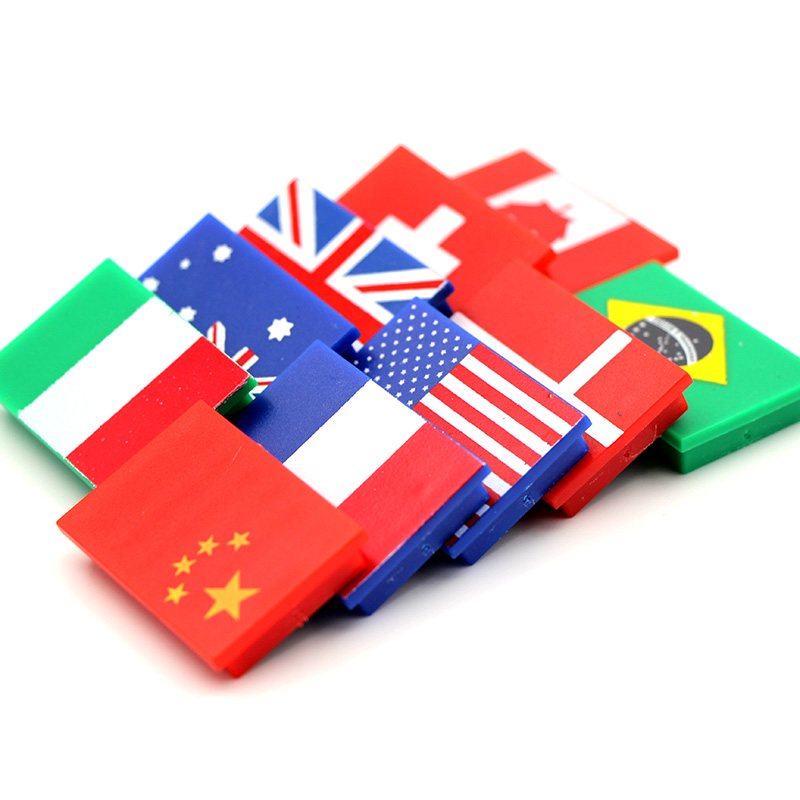 10 Uds. Banderas de botones de tablero blanco de 10 países imán permanente de ferrita para uso escolar y de oficina