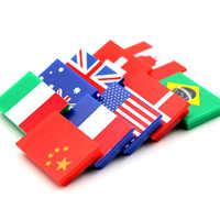 10 Uds. Banderas de botones de tablero blanco de 10 países imán permanente de ferrita para la oficina escolar y el uso en el hogar
