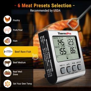 Image 2 - ThermoPro TP17 çift probları dijital açık et termometresi pişirme barbekü fırın termometresi büyük LCD ekran ile mutfak için