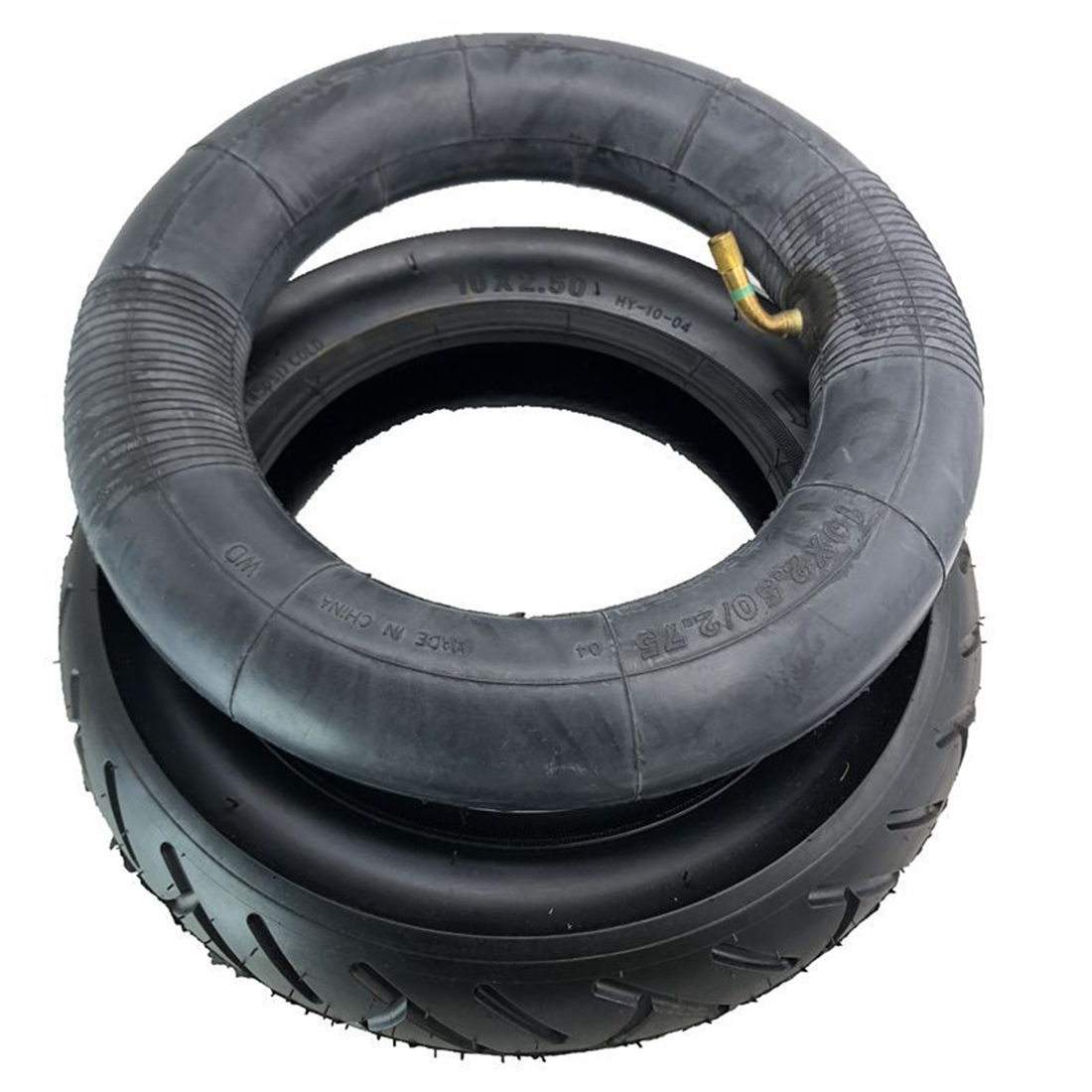 Electric Scooter 10x2.50 Tire + Inner Tube Set 10 Inch Thick Butyl Rubber Good Air Tightness Scooter Accessories Parts