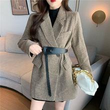 Suit Jacket Coats Clothing Retro Fashion Women's High-Quality New Winter Autumn Waist