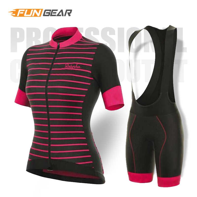 פרו נשים רכיבה על אופניים סט MTB אופני בגדי קיץ נשים מרוצי אופניים בגדי Ropa Ciclismo רכיבה על אופניים ג 'רזי סט