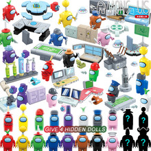 2021 NEW Among Us Action Figures Game Model Building Blocks Steam Space Impostor Crewmates Mini Bricks Toys For Children Gifts