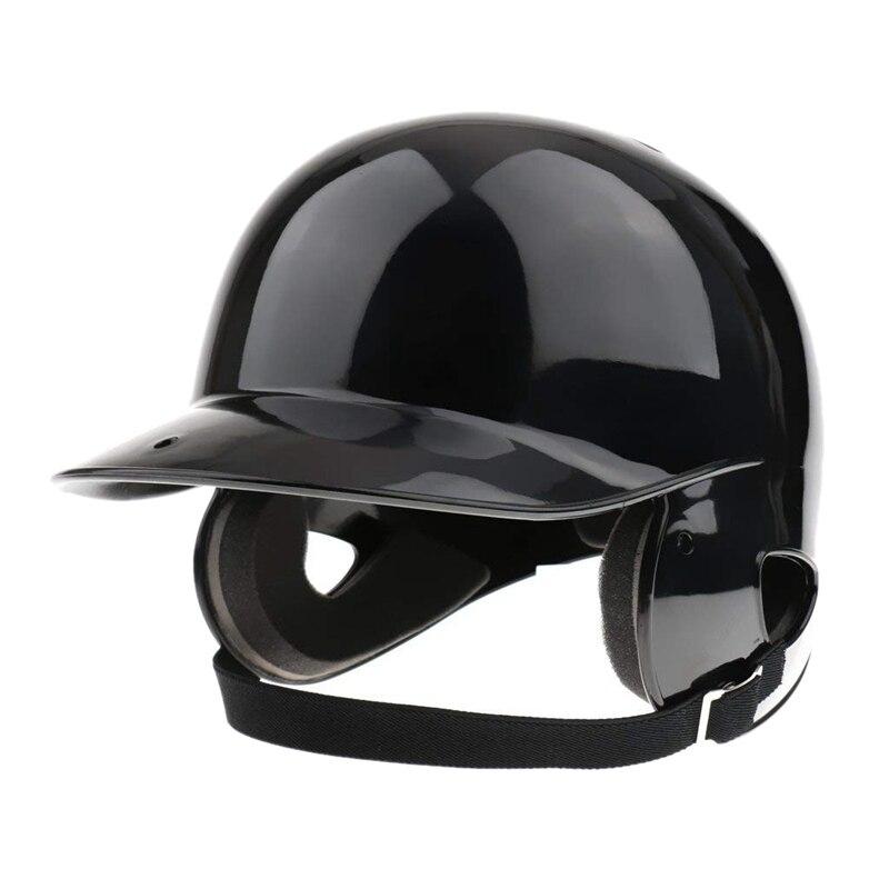HOT-Batter's Helmet Softball Baseball Helmet Double Flap - Black