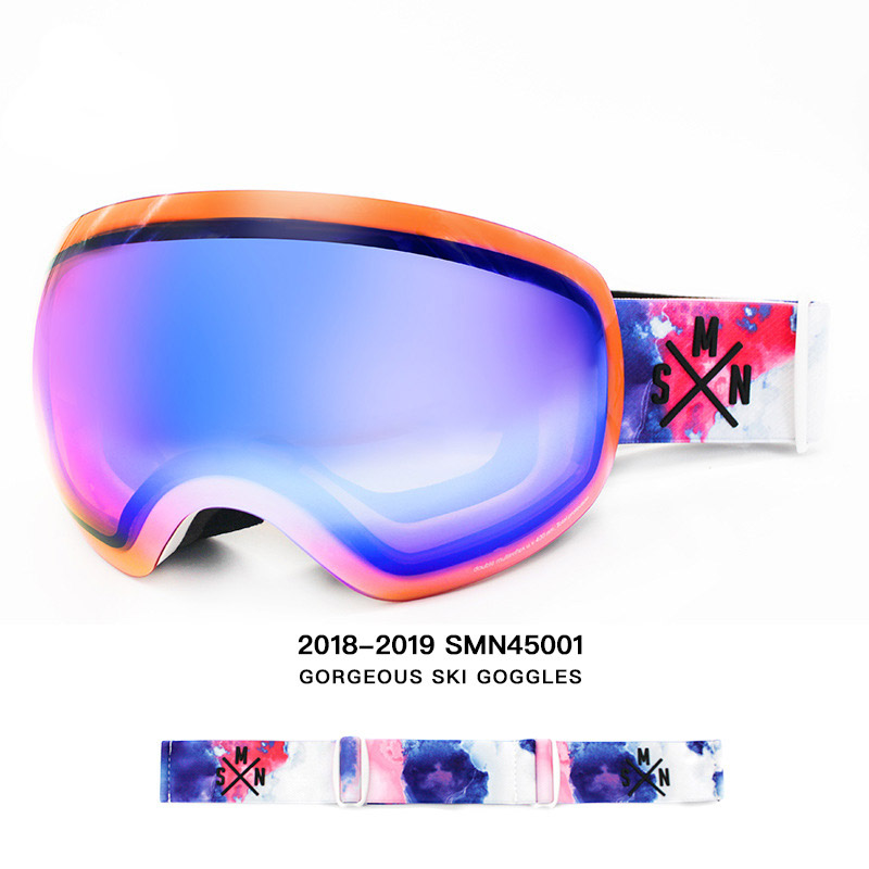 Snow Goggle Big Ball Spherical Double Anti-fog Eyewear UV Mirror Ski Gear Flying Sunglasses Breakage-proof Snowboarding Glasses