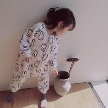Sleepwear Home-Clothes One-Piece Kids Pajamas Flannel Girl Baby Boy Winter Children Bodysuit