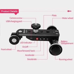 Image 4 - KINGJOY PPL 06S זמן לשגות מיני ממונע חשמלי מסלול מחוון מנוע דולי משאית לרכב עבור מצלמה מצלמת וידאו דולי למצלמה