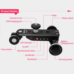 Image 4 - KINGJOY PPL 06SPRO Camera Slider Dolly Car Rail Systems Time Lapse Electric Motorized Dolly Car For Camera Phone Camcorder Dslr