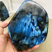400-1000g natural cristal moonstone pedra preciosa cru ornamento polido labradorite quartzo artesanato decoração pedra cura