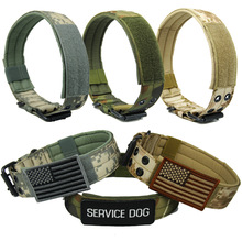 Military Tactical Dog Collar K9 Working Big Adjustable Pet Cat Collars For Small Large Dogs Training Products
