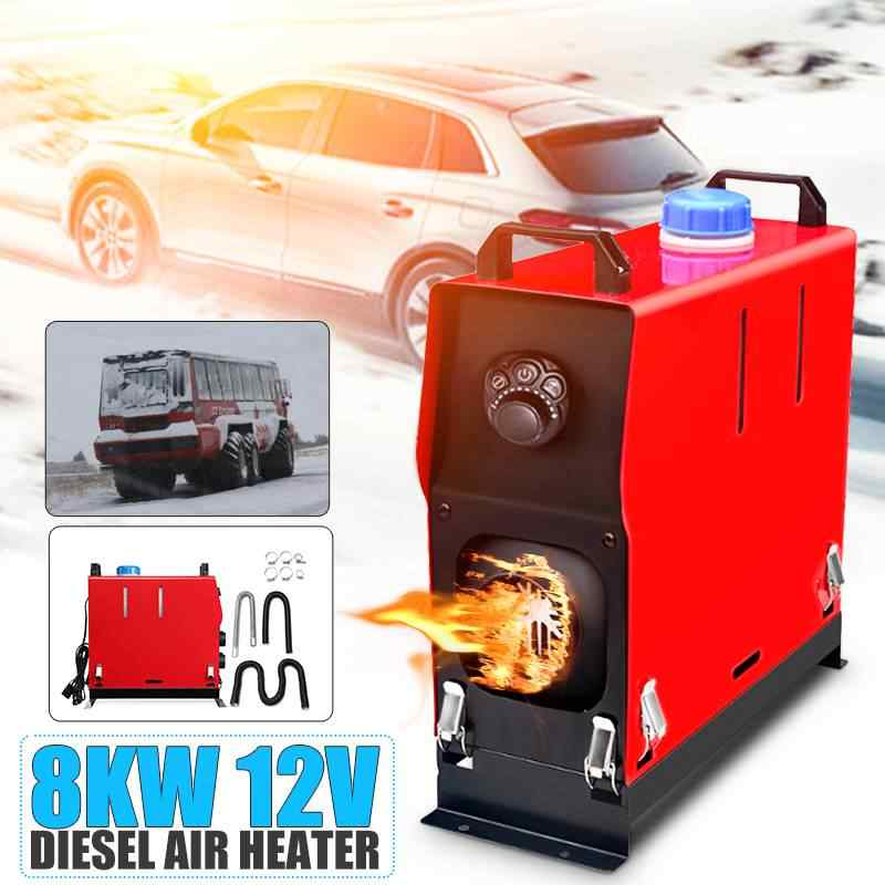 12V 8000W Auto Air Diesels Heater All-in-Een Machine Enkel Gat Parking Heater Diesel Parking warmer Voor Auto Vrachtwagen Bus Boten
